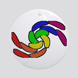 CURVY RAINBOW PRIDE SHAPES Ornament (Round)