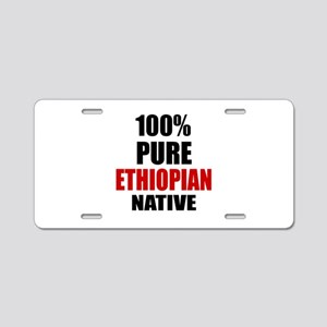 100 % Pure Ethiopian Native Aluminum License Plate