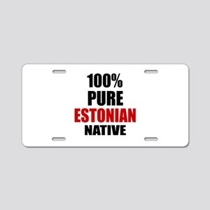 100 % Pure Estonian Native Aluminum License Plate