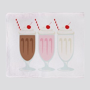 Milkshakes Throw Blanket