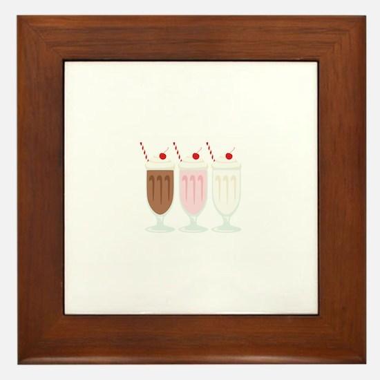 Milkshakes Framed Tile
