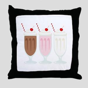 Milkshakes Throw Pillow