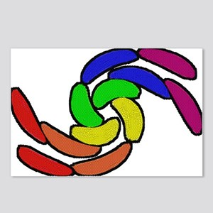 CURVY RAINBOW PRIDE SHAPES Postcards (Package of 8