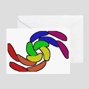 CURVY RAINBOW PRIDE SHAPES Greeting Card