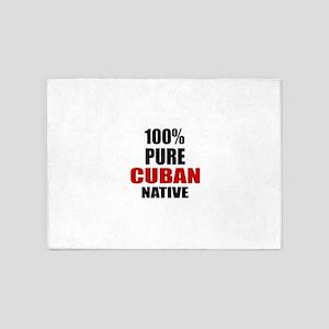 100 % Pure Cuban Native 5'x7'Area Rug