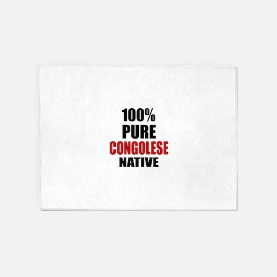 100 % Pure Congolese Native 5'x7'Area Rug