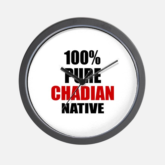 100 % Pure Chadian Native Wall Clock