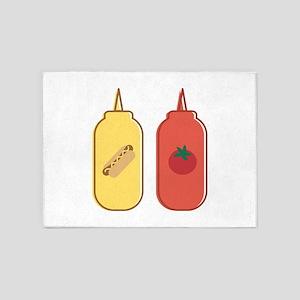 Mustard & Ketchup 5'x7'Area Rug