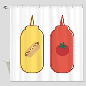 Mustard & Ketchup Shower Curtain