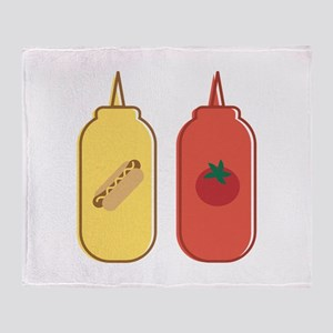 Mustard & Ketchup Throw Blanket
