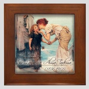 A KISS - oil on canvas 1891 Framed Tile
