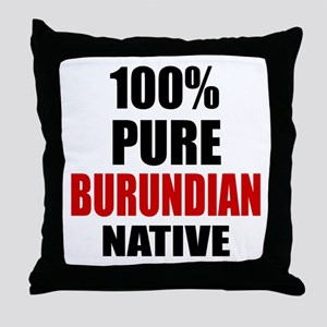 100 % Pure Burundian Native Throw Pillow