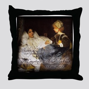 ALWAYS WELCOME - oil on canva Throw Pillow