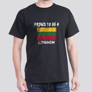 Proud To Be Lithuanian Dark T-Shirt