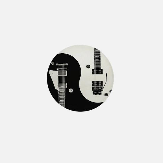 Guitar Yin Yang Mini Button