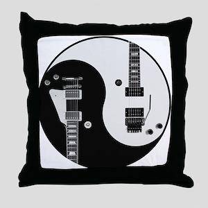 Guitar Yin Yang Throw Pillow