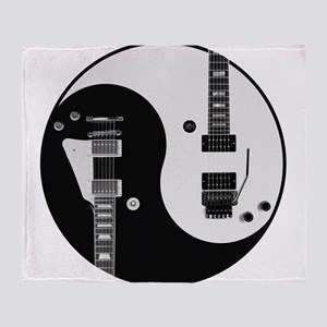 Guitar Yin Yang Throw Blanket