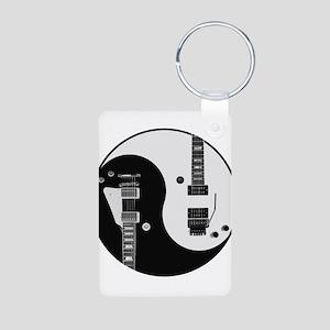 Guitar Yin Yang Keychains