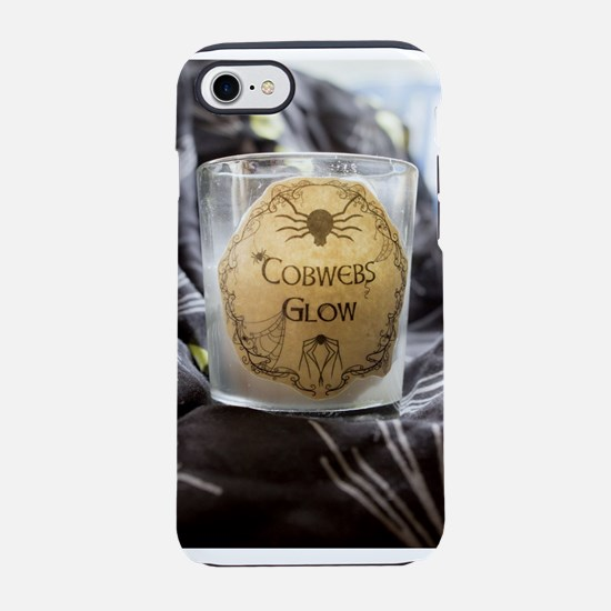 Cobwebs Glow Candle iPhone 8/7 Tough Case