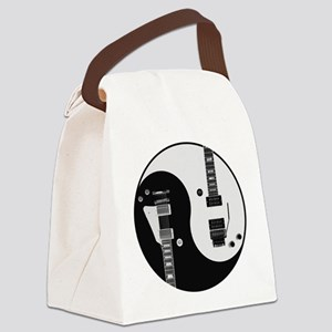 Guitar Yin Yang Canvas Lunch Bag