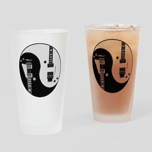 Guitar Yin Yang Drinking Glass