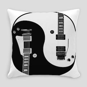 Guitar Yin Yang Everyday Pillow