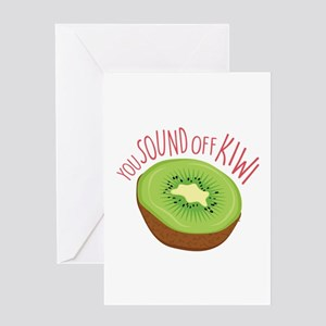 Sound Off Kiwi Greeting Cards