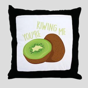 Kiwing Me Throw Pillow
