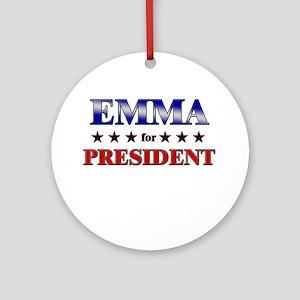 EMMA for president Ornament (Round)