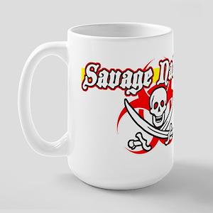 Savage Nation Pirate Large Mug