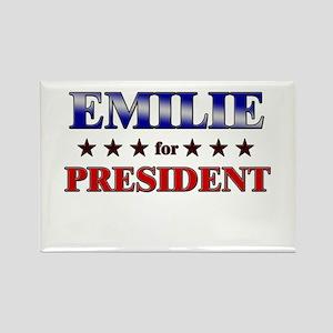 EMILIE for president Rectangle Magnet