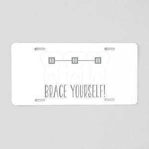 Brace Yourself Aluminum License Plate