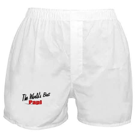 """The World's Best Papi"" Boxer Shorts"