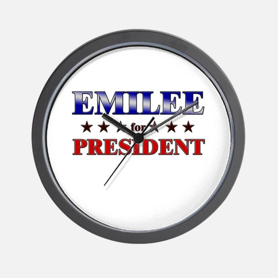 EMILEE for president Wall Clock