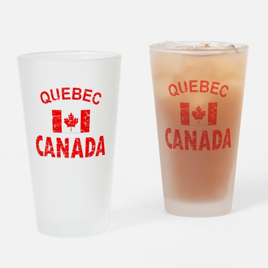 Cute Quebec Drinking Glass