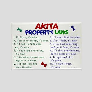 Akita Property Laws 2 Rectangle Magnet