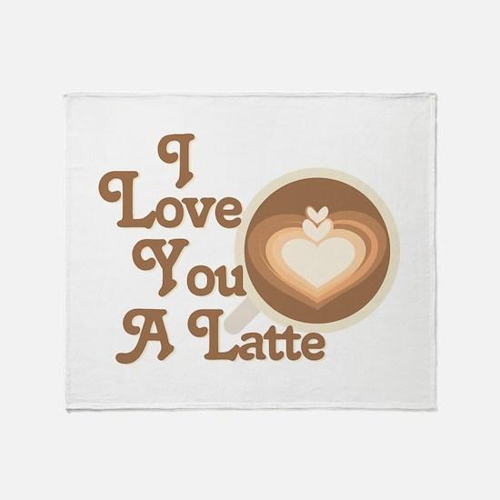 Love You Latte Throw Blanket