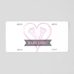 Baby girl Aluminum License Plate