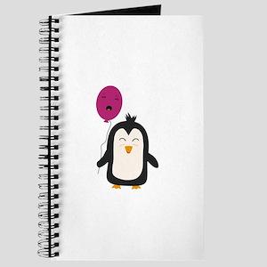 Penguin with balloon Journal