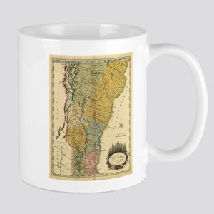 Vintage Map of Vermont (1814) Mugs