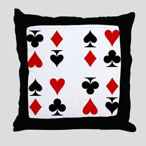 Poker Cards Suits Throw Pillow