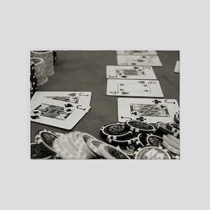 Poker 5'x7'Area Rug