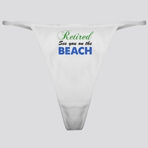 Retired See You On The Beach Classic Thong