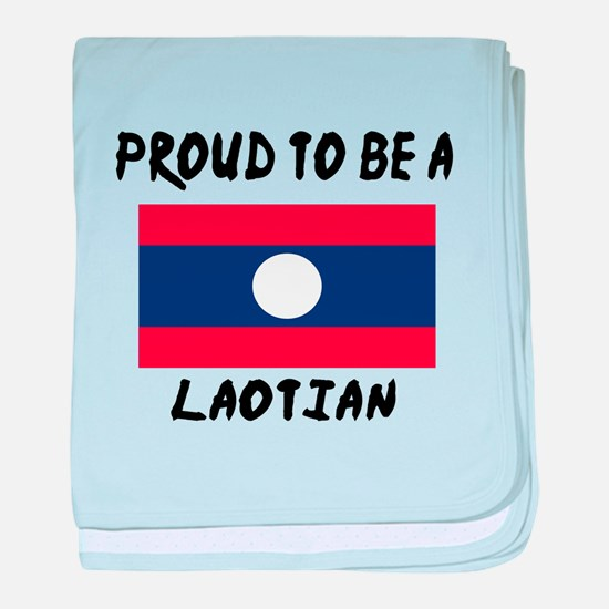 Proud To Be Laotian baby blanket