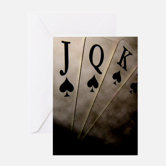 Poker Ace Cards Greeting Cards