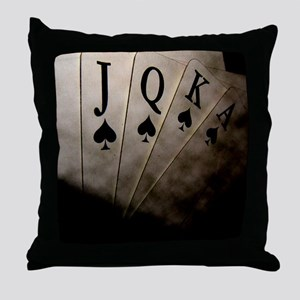 Poker Ace Cards Throw Pillow