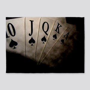 Poker Ace Cards 5'x7'Area Rug