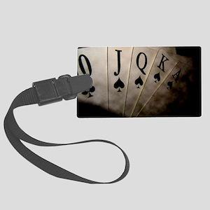 Poker Ace Cards Large Luggage Tag