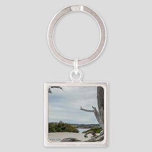 Carmel Beach Treescape Keychains