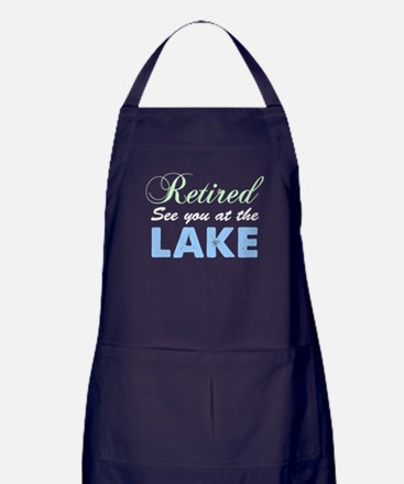 Retired See You At The Lake Apron (dark)